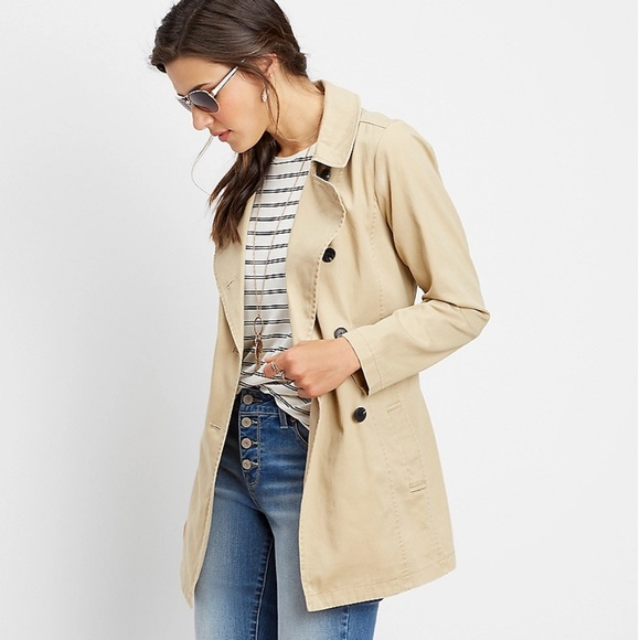 Maurices button down trench coat
